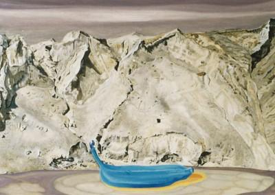 Blaue Frucht d. Hoffnung, 80x60, 1990
