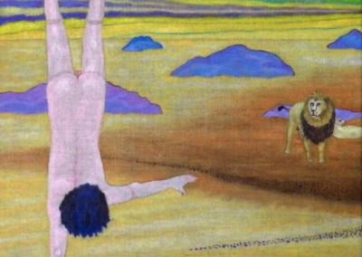 Einarmiger Handstand, 40x40, 2015