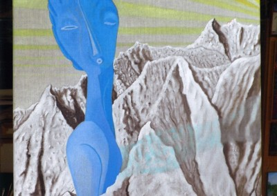 Frau im Gebirge, 40 x40, 2015