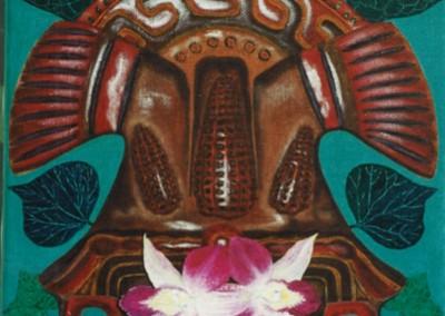 Geschmückter Maisgott, 30x40, 1998