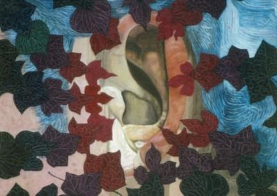 Ohr im Efeuwirbel, 70x70 1999