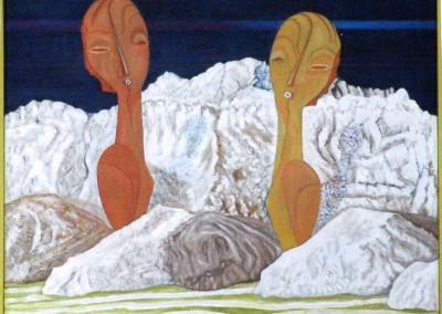 Zwei Frauen im Salz, 50x40, 2015