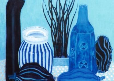 Alles in Blau, 30x40, 2013, Öl auf Malgrund