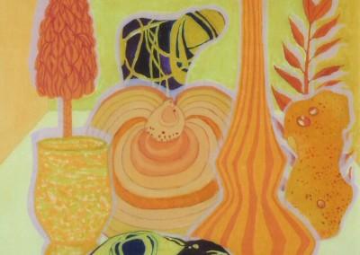 Steine, Glas und Holz, 30x40, 2013, Öl auf Malgrund