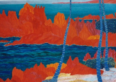 Rote Klippen, 70x50, 2004