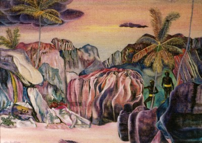 Leben in den Felsen, 65x50,1989