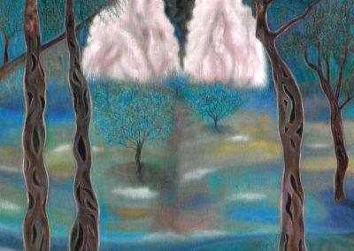 Mythischer Wald, 60x80, 2001