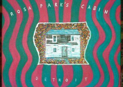 Rosa Parks Cabin Detroit, 50x40, 2017