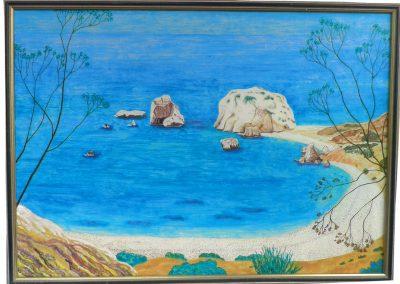 Wo Aphrodite dem Meer entstieg, 70x50,2006