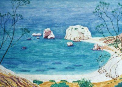 Wo Aphrodite dem Meer entstieg, 70x50cm, 2006