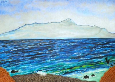 Die Meerenge, 70x50 cm, Öl auf Leinwand, 2020