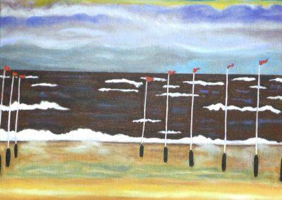 Norderney, 40x50cm, Öl auf Leinwand, 2020