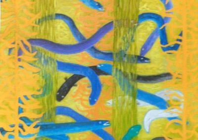 Sargassose, 50x70cm, Öl auf Leinwand, 2020