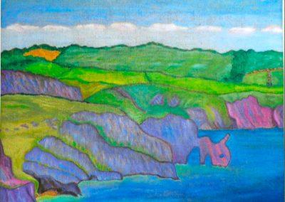 Waliser Kueste, 50x40 cm, Öl auf Leinwand, 2020